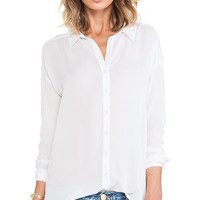 Bella Luxx Oversized Button Up Top in White