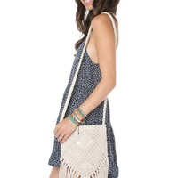 Brandy ♥ Melville |  Cream Crochet Purse - Bags - Accessories