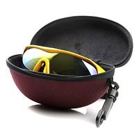 Performance Sports Colorful Zipper Nylon Capsule Sunglasses Case 1017