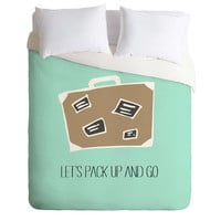 Allyson Johnson Lets pack up and go Duvet Cover