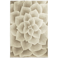 Rose Tufted Rugs - Ivory