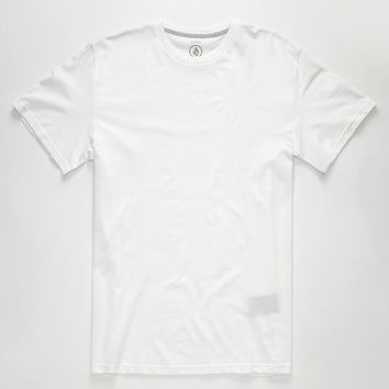 Volcom Solid Mens T-Shirt White  In Sizes