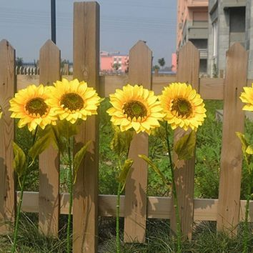 Elegant 1Pc Home Garden Fence Decoration Fake Flower Unique Vivid Big Artificial Sunflower