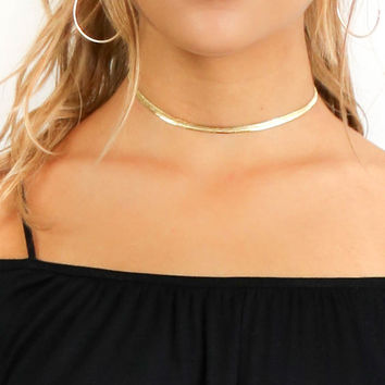 Beyond You Thin Gold Choker