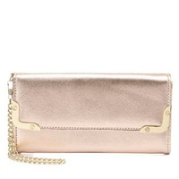Pink Metallic Gold-Tipped Wristlet Wallet by Charlotte Russe