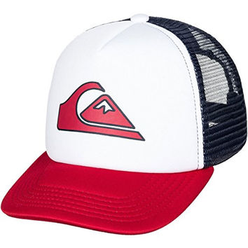 Quiksilver Boys 2-7 Snapper Trucker Hat White One Size
