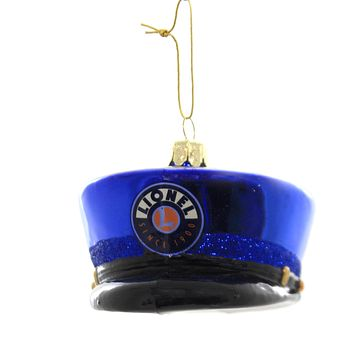 Holiday Ornaments LIONEL CONDUCTOR HAT Glass Train Christmas Ln4191