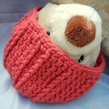 Crochet Beanie Hat Acrylic Brick Red Kids Hat by CroweShea on Etsy