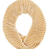 Camel Combo Ribbed Two-Tone Infinity Scarf by Charlotte Russe