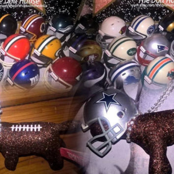 INSTOCK Choose Team! NFL Mini Rearview Hanging Rhinestone Victoria Secret Customized Puppy Dog