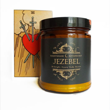 9 oz Jezebel ~ Midnight Gypsy ~ Essential Oil Body Butter by Nightshade Botanicals