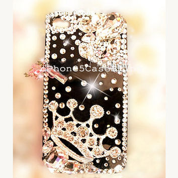 iPhone 4 Case, iPhone 4s Case, iPhone 5 Case, iPhone 5 Bling Case, Bling iPhone 4 case, Unique iPhone 4 case, Black iphone 5 case crown