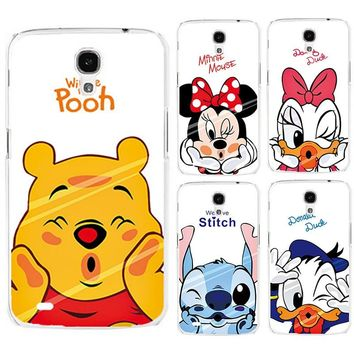 Painted Case For Samsung Galaxy Mega 6.3 i9200 9200 Mickey Mouse  Donald Duck Cartoon PC Phone Case Cover Shell Free Shipping