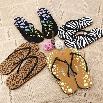 Fashion Casual Women's Summer Beach Flip Flops Thong Flat Sandals Comfort WT D_L = 1713111108