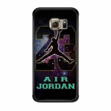 VONR3I Nike Air Jordan Galaxy Nebula Star Samsung Galaxy S6 Edge Case