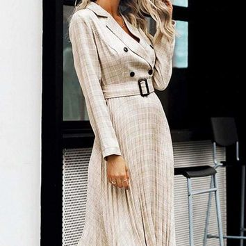Dartford Pleated Midi Dress