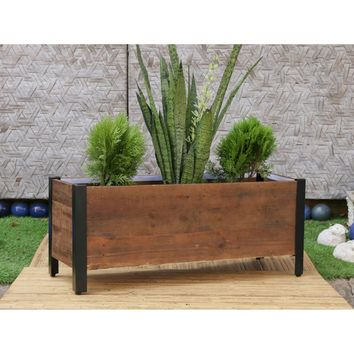 Grapevine Rectangular Urban Garden Wooden Planter Box | Hayneedle