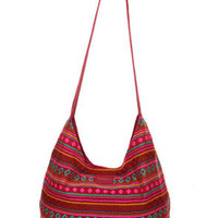 O'Neill Sancho Woven Red Hobo Bag