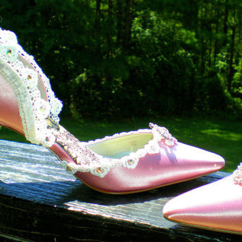 Wedding shoes the Rapunzel bridesmaids by TheCrystalSlipper