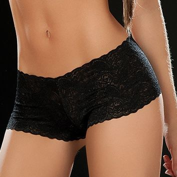 Black Lace Boy Shorts : Colorful Lace Hot Pants