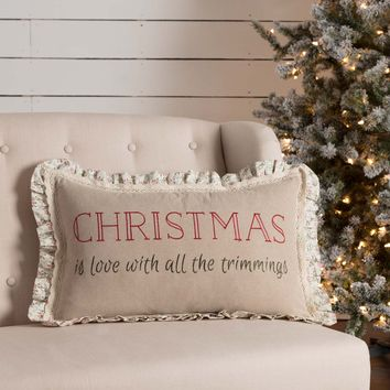 Carol Christmas Trimmings Pillow