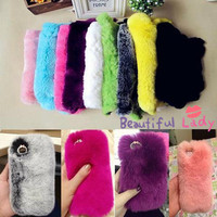 100%Rabbit fur iphone 5s case iphone 5c case 5 case samsung note3 note2 case bling iphone 4 4s case cut samsung s3 s4 case iphone 5c case