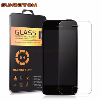 SUNDATOM Tempered Glass Screen Protector for iPhone5 iPhone SE 5 5C 5S 5SE Frosted Colorful Film Matte Anti-Glare Round Edge