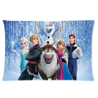 Frozen Custom Pillow Case 16x24 (one side), Design Pillowcase, Vintage Bed Sets