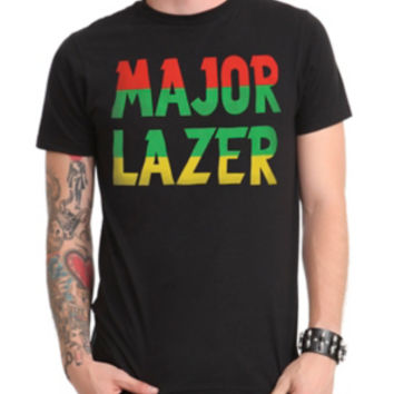 Major Lazer Rasta Logo T-Shirt