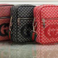 """Gucci"" Fashion Solid Color GG Letter Quilted Single Shoulder Messenger Bag"