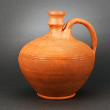 Earthenware. Handmade Ceramics. Clay Jug. Water Pitcher. Housewarming Gift Ideas By Three Snails. Free Shipping!