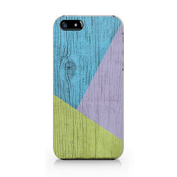 A-282- Geometric Wood print iPhone 4/4S case, Autumn iPhone 5/5S case