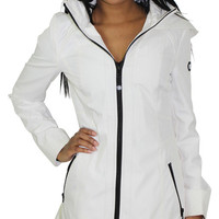 Jessica Simpson Women's Hooded Rain Coat Jacket