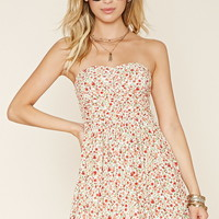 Strapless Floral Dress | Forever 21 - 2000219907