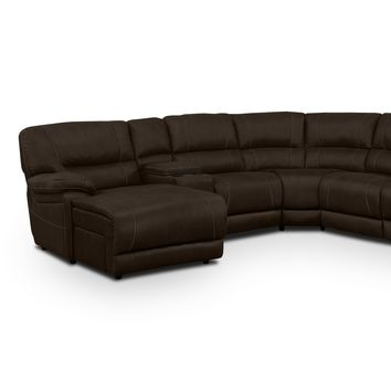 Wyoming Saddle 5 Pc. Reclining Sectional (Reverse)
