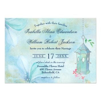 Elegant Floral Boho Summer Wedding Invitation