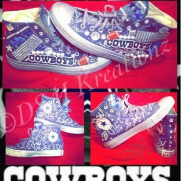 DCCKHD9 Custom Dallas Cowboys Converse All Star Chuck Taylor Shoes