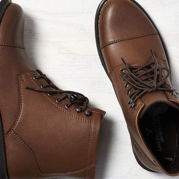 AEO 's Leather Cap Toe Boot (Light Brown)