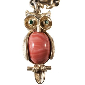 Stella & Dot Owl Pendant Necklace (Retired), Gold Plated Chain