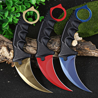 Hot Selling Karambit Knife Tactical Survival Camping Tool Knives CS GO Counter Strike Slaughter Hunting Fighting Claw For Hiking