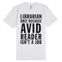 Librarian-Unisex White T-Shirt