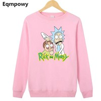 Pink Rick And Morty Pullover Sweatshirt