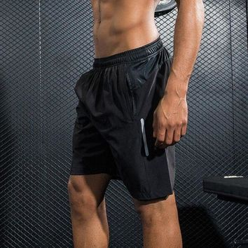 LMFONRZ Men Sports professional Running reflective Shorts Training Soccer table tennis Workout fitness GYM Quick Dry breathable Shorts