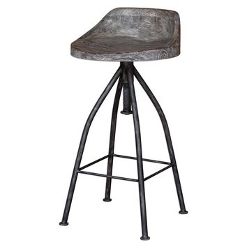Kairu Wooden Bar Stool By Uttermost
