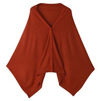 Knit Cape with Button Heat Control 50x150cm
