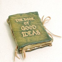 The Book Of Good Ideas Green Leather Journal by GILDBookbinders