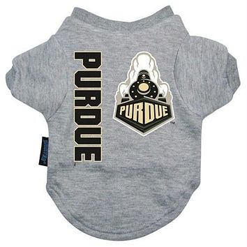 Purdue Boilermakers Heather Grey Pet T-Shirt