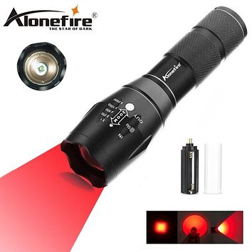 AloneFire E17 XP-E Red Spotlight LED Flashlight torch zoomable Adjustable Focus