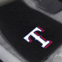 Texas Rangers 2-pc Embroidered Car Mat Set