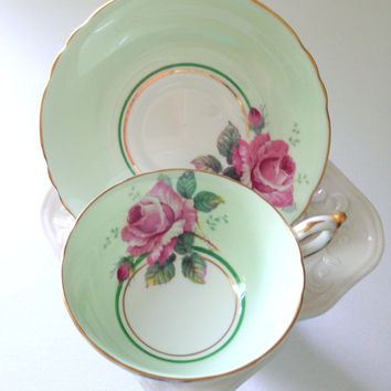 Vintage English Paragon By Appointment Fine Bone China Tea Cup and Saucer Elegant Tea Party - Ca. 1950's